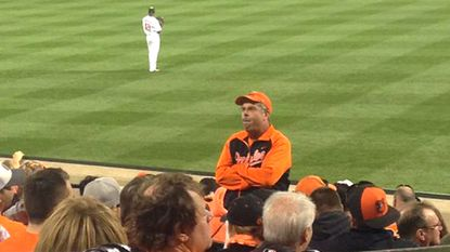 Orioles fan gets national attention for turning his back on Yankees star Alex Rodriguez