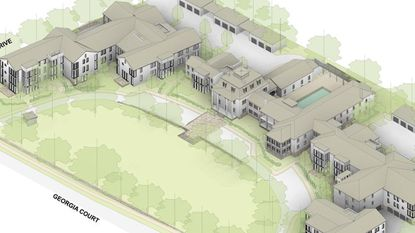 Rendering of the proposed Bosley Estates on the former site of the Presbyterian Home of Maryland.