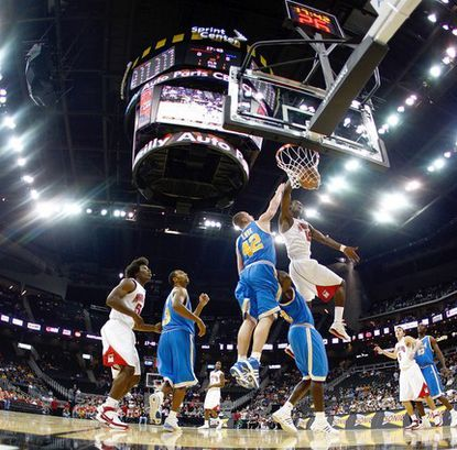 Likened to a new Baltimore arena, the Sprint Center in Kansas City, Mo., has hosted the likes of James Gist and Kevin Love, here squaring off in a Terps-UCLA game in 2007. The city, however, has failed to draw a pro team.