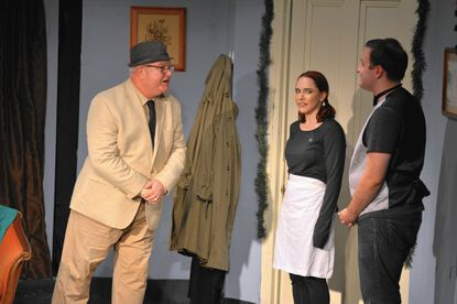 """David McCrary, Heather Warren and Michael Angeloni in a scene from """"Happy Hollandaise"""" at Laurel Mill Playhouse."""