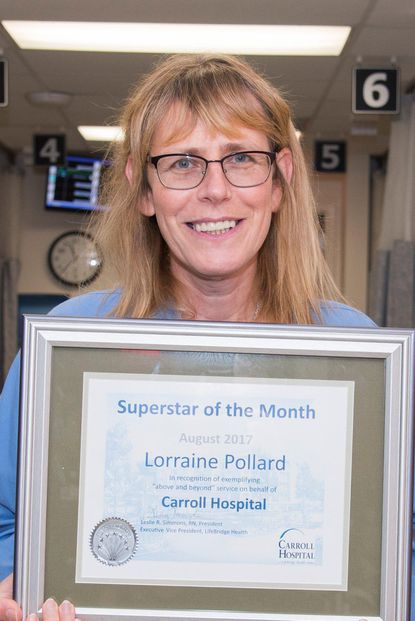Carroll Hospital's August SuperStar of the Month, Lorraine Pollard, R.N. - Original Credit: Submitted Photo