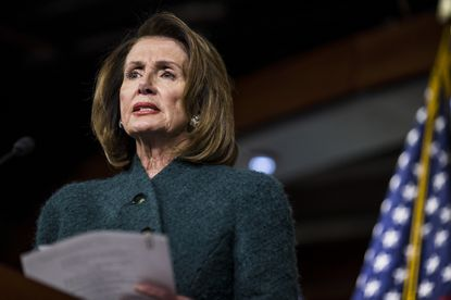 House Minority Leader Nancy Pelosi, D-Calif., speaks during a news conference on Capitol Hill in Washington, D.C., on Jan. 18, 2018.