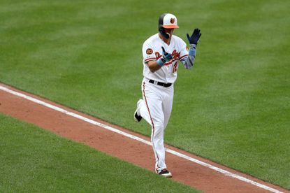 Utility player Stevie Wilkerson pitched for the Orioles in the last inning of a blowout loss to the Tampa Bay Rays.