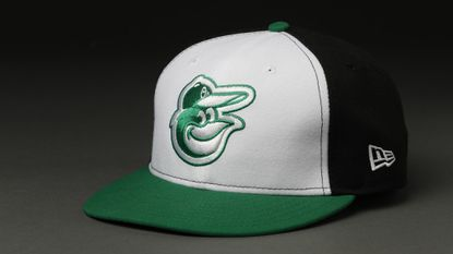 The Earth Day cap the Orioles will wear Sunday against the Indians.