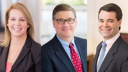 The Baltimore law firm Miles & Stockbridge created an executive committee with newly appointed chairman Nancy W. Greene, newly appointed CEO Joseph W. Hovermill, center, and newly appointed executive vice president Christopher R. Johnson, right.