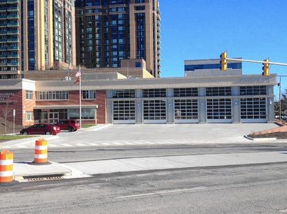 The new Towson fire station.