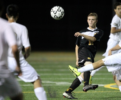 Mt. Hebron's Johnny Linsenmeyer had three assists Tuesday, helping the Vikings to a 4-0 victory over Centennial.