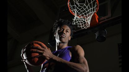 Player of the Year photo of Mount Saint Joseph basketball player Jalen Smith.