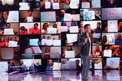 """Mentalist Max Major, a Woodbine native, gives a mind-bending performance in front of hundreds of audience members watching remotely Tuesday, Aug. 25, 2020, on NBC's """"America's Got Talent."""""""