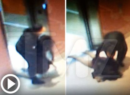This is a screenshot of the video posted by TMZ showing the aftermath of the alleged fight in Atlantic City that led to the arrest of Ray Rice and his fiancee, Janay Palmer. Rice's attorney, Michael Diamondstein, said the footage is authentic but incomplete.