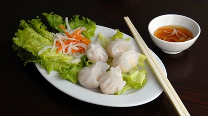 The steamed shrimp dumplings from Indochine, which is temporarily closed as it changes hands. The former owners plan to open a new restaurant near Patterson Park in November.