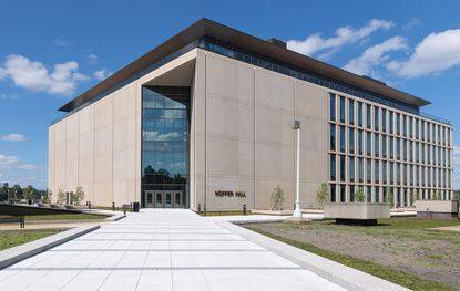 The Naval Academy Center for Cyber Security Studies, Hopper Hall, will celebrate its official opening, Thursday, Oct. 15. Named for Rear Adm. Grace Hopper, a pioneer in computer programming, Hopper Hall is the Academy's newest and most state-of-the-art academic building on the Yard.