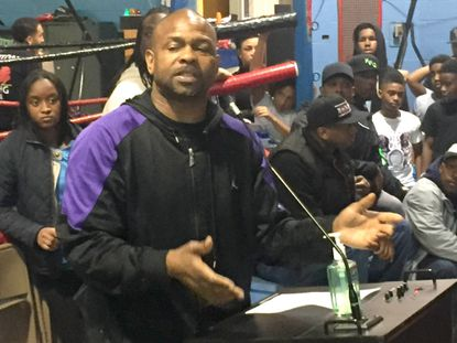 Roy Jones Jr. makes stop to work with young fighters at local gym