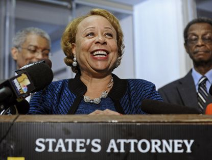 In this 2010 file photo, Patricia Jessamy concedes defeat in her primary re-election bid for Baltimore State's Attorney.