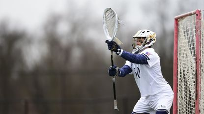In his first career start, freshman goalkeeper Luke Mutterer made a game-high seven saves to propel the Mount St. Mary's men's lacrosse team to a 16-7 victory over UMBC on Friday.