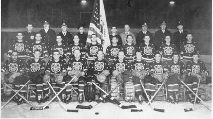 The U.S. Coast Guard Cutters 1942-1943 hockey team.