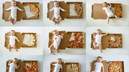 This Maryland photographer documented her son's growth using pizza slices and it's cute enough to eat