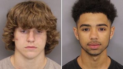 Jeremy Patrick Hager, 16, and Derek Darnelle Stroman, 19, have been charged with assault in an incident in which police say Hager rammed a police car with a stolen SUV. Hager is being held without bail.