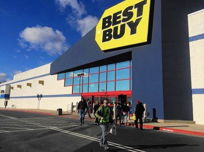 Best Buy in Bel Air was among the stores with a steady flow of customers on Black Friday.
