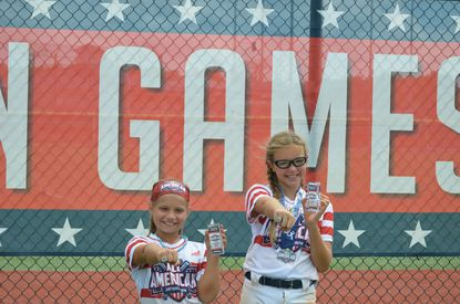Maryland Sting softball players Morgan Tingler and Gabby Pittinger recently played in All-America games in South Carolina.
