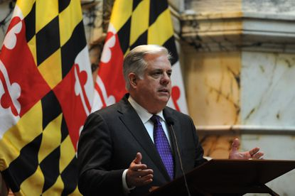 Gov. Larry Hogan, shown during his state of the state speech, campaigned on a pledge to bring more transparency to government in Annapolis.