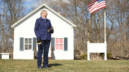 Pat Greenwald at the Pfeiffer's Corner Schoolhouse on Friday, March 16.