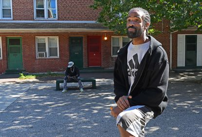 Derrick Owens, a Poe Homes resident, says he's tired of Baltimore's mounting violence.