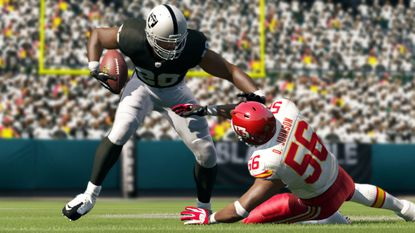 """A screenshot of """"Madden NFL 13,"""" due out Aug. 28."""