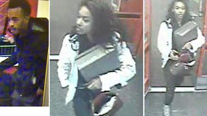Baltimore County Police have released photos of suspects involved in a shooting at the Owings Mills Target on March 12.