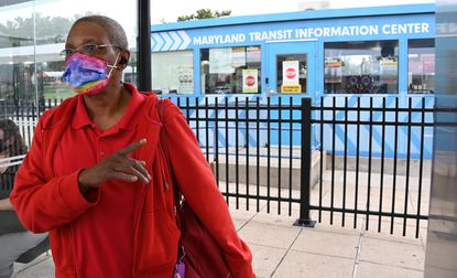 Pam Brickell Mondawmin Transit Center where she waited on the 91 bus route, which The Maryland Transit Administration had considered cutting.