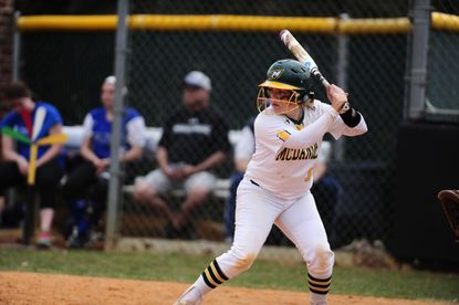 McDaniel junior Payton Lewis leads the Centennial Conference in batting average at .469, and she has been a big part of the Green Terror's 12-1-1 league record.
