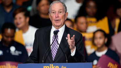 "Democratic presidential candidate and former New York City Mayor Michael Bloomberg speaks during his campaign launch of ""Mike for Black America,"" at the Buffalo Soldiers National Museum, Thursday, Feb. 13, 2020, in Houston."