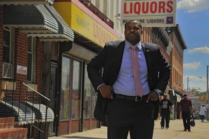 City Councilman Nick J. Mosby of the 7th District wrote the bill banning liquor stores from selling non-alcoholic products to minors.