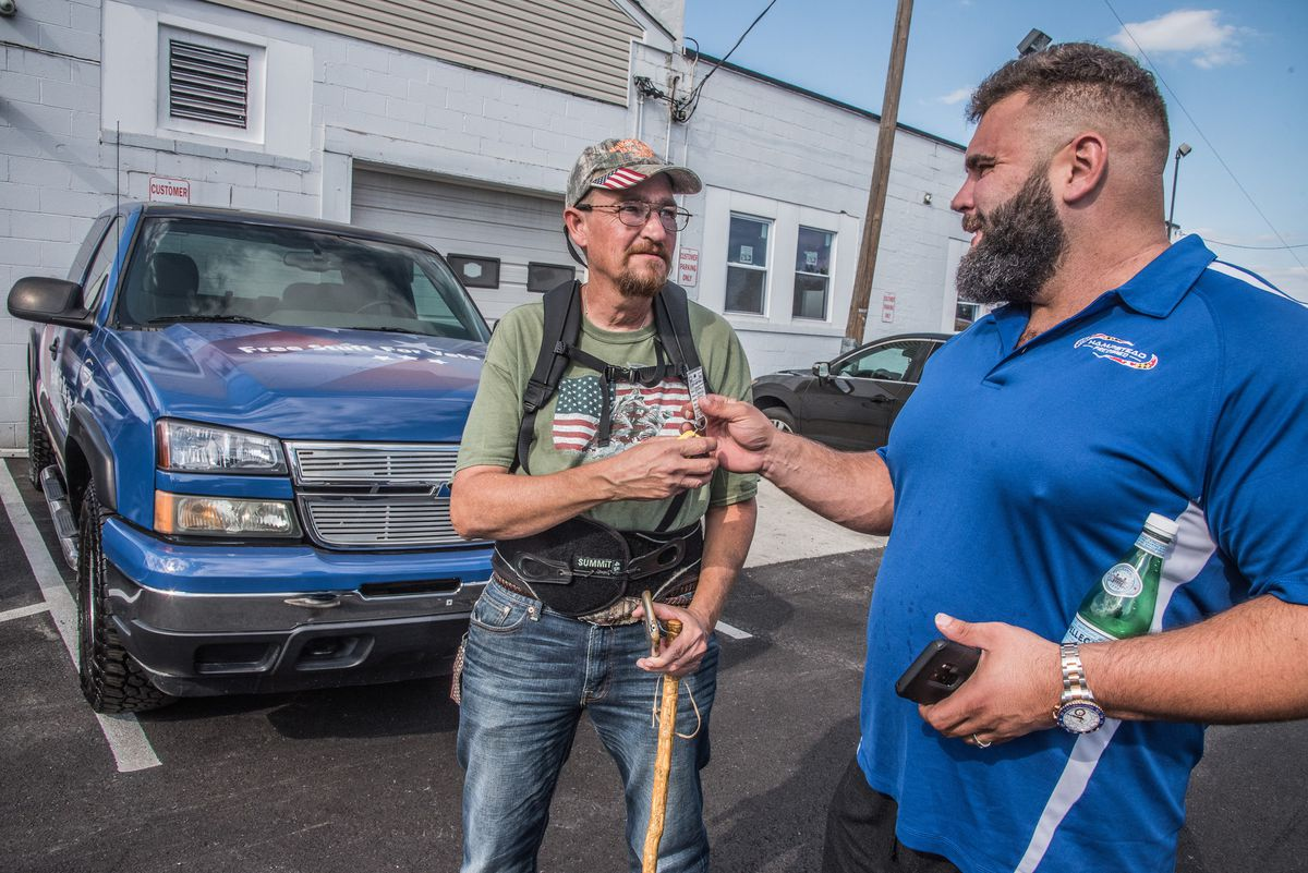 Hampstead car dealership gifts new truck to 'selfless, caring' man who helps fellow veterans