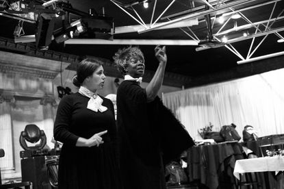Jenna Stein as Susan B. Anthony and Julia Nixon as Frances Harper in 'The Moment Was Now.'