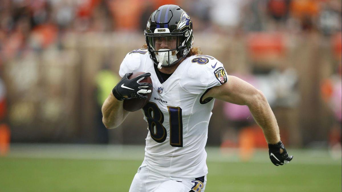 new style 3e121 f786c Hayden Hurst pushing to get more involved in Ravens offense ...