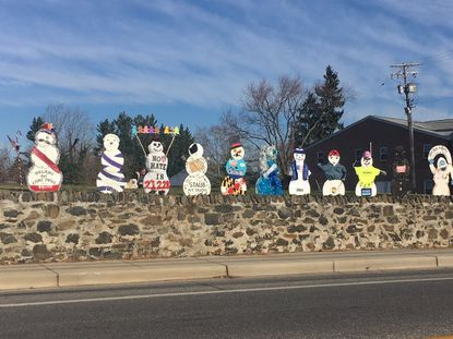 Catonsville snowmen display yanked after frosty debate over 'political overtones'