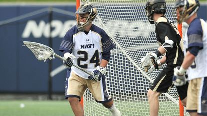 Ryan Kern, a sophomore goalkeeper for Navy men's lacrosse, and a few teammates are trying to watch their Philadelphia Eagles play in the Super Bowl, but they will be on an airplane during the game.