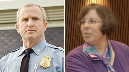 Howard County Police Chief William McMahon, left, criticized the ruling on a DUI case by District Court Judge Sue-Ellen Hantman.