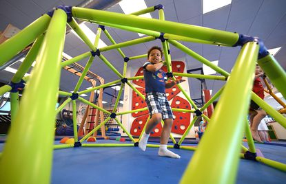 Daniel Smith,4, of Bel Air playing at the We Rock the Spectrum Kid's Gym in Forest Hill. 6/30/21
