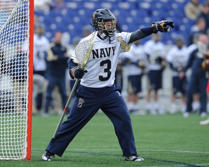 Navy goalie RJ Wickham is benefiting from the tutelage of former Mids great Mickey Jarboe.