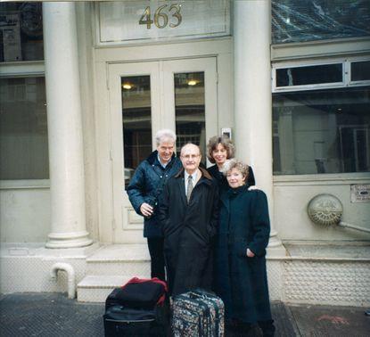 Gottfried Wagner, from left, Yehuda Nir, Janice Hamer, Mary Azrael in 1998.
