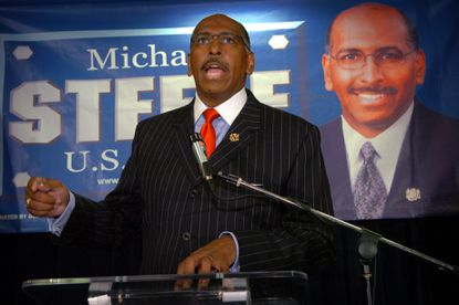 At Steele headquarters in Prince George's county, Senate candidate Michael Steele meets supporters.