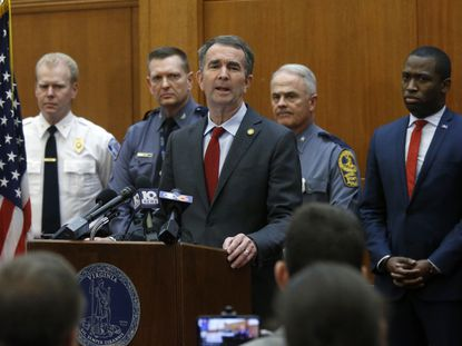 Virginia Gov. Ralph Northam talks about security plans for Lobby Day during a press conference in Richmond, Va., on Jan. 15, 2020.
