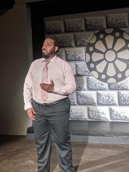 Anwar Thomas did a piece for the Reston Community Players' Community Theatre Thrives Telethon, scheduled for July 17 and 18, in support of the Laurel Mill Playhouse.