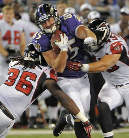 Tight end Matt Furstenburg is one of several undrafted rookie free agents hoping to make the Ravens' final roster.