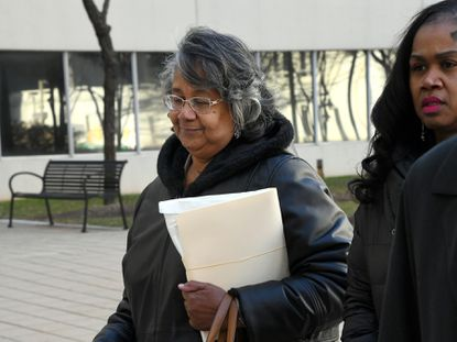 "Former Baltimore Del. Cheryl Glenn's ""deliberate scheme"" to take bribes for votes added to Maryland's perceived ""pay to play"" political culture, a federal judge said in sentencing her to two years in prison. In this Jan. 22, 2020, photo, Glenn arrives at U.S. District Court in Baltimore."