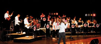The JoeyDCares Rock Orchestra performs a mixture of pop, rock and classic hits.