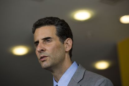 BALTIMORE, MD - MAY 5: Rep. John Sarbanes (D-MD) speaks to the media at the University of Baltimore, May 5, 2015 in Baltimore, Maryland. Attorney General Loretta Lynch spoke with members of Congress and faith leaders on Tuesday during a private meeting at the University of Baltimore. (Drew Angerer/Getty Images) ORG XMIT: 552823075