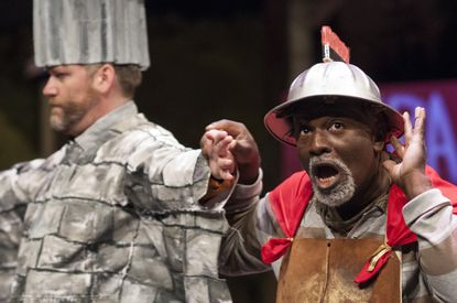 Scott Farquhar, left, and Gregory Burgess in 'A Midsummer Night's Dream' at Chesapeake Shakespeare Company